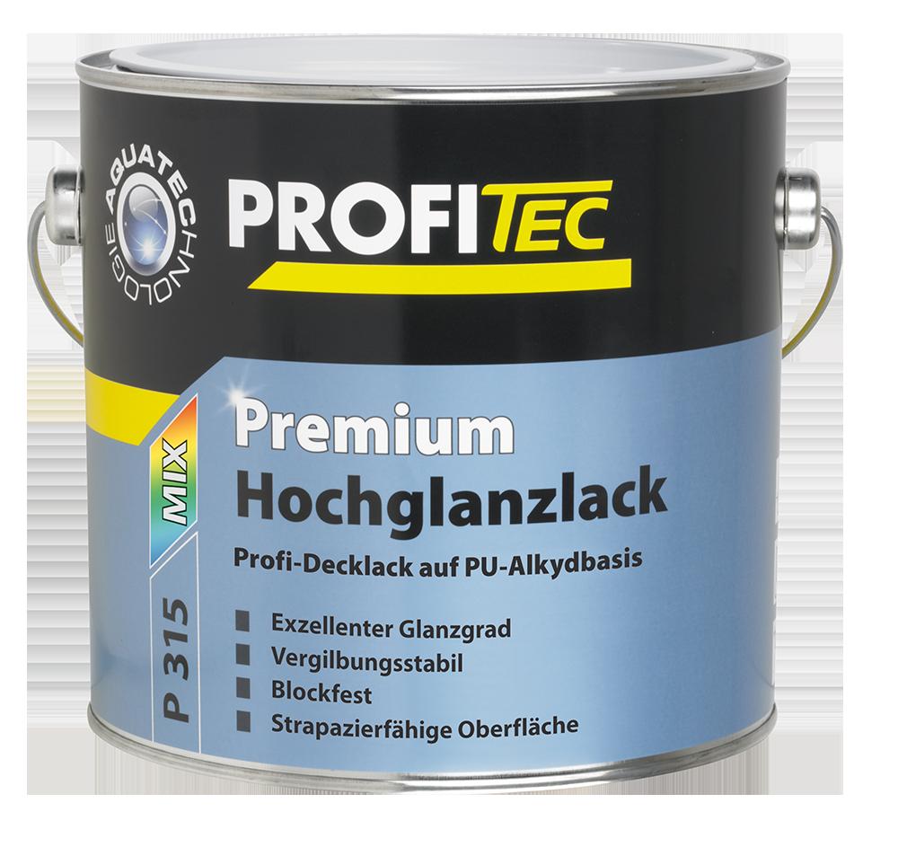 PROFITEC P 315 Premium Hochglanzlack weiß 2,5L - Beständig gegen Handschweiß, Kobaltfrei -