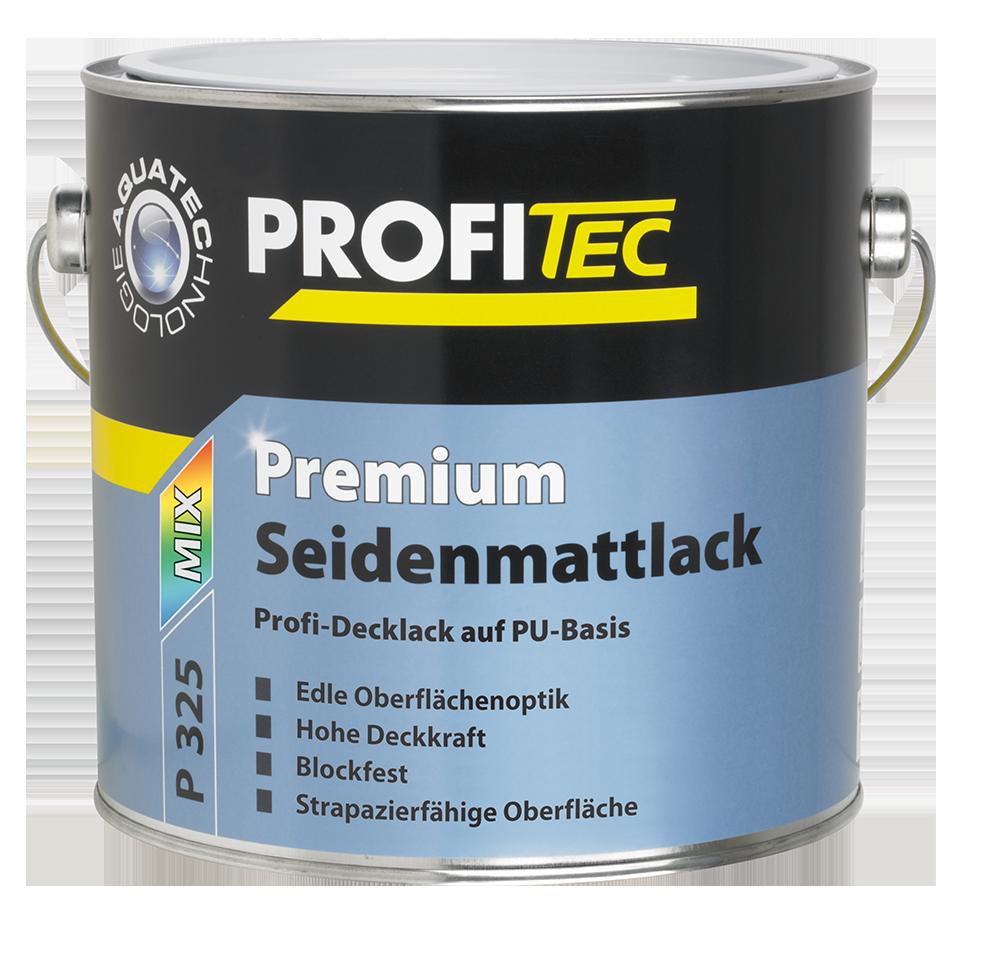 PROFITEC P 325 Premium Seidenmattlack weiß 2,5L - Beständig gegen Handschweiß, Hoch abriebfest -