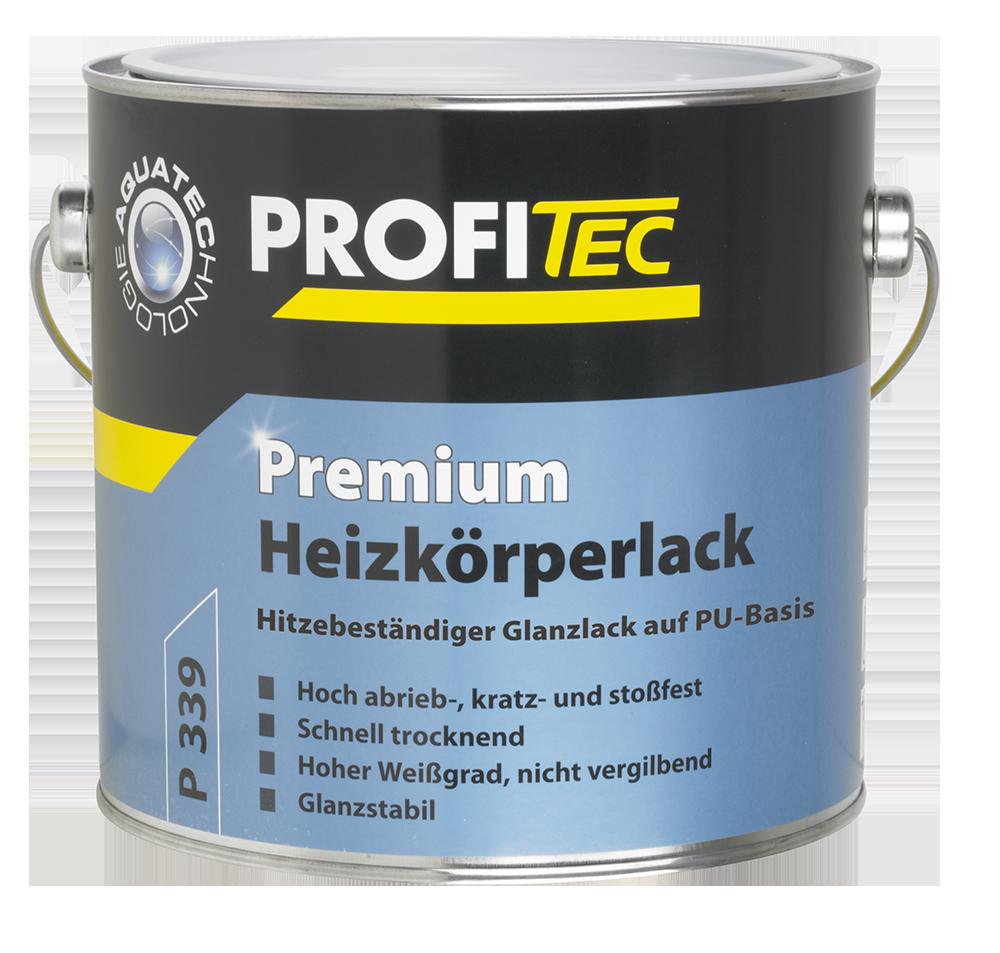PROFITEC P 339 Premium Heizkörperlack weiß 2,5L - Hoch abrieb-, kratz- und stoßfest -